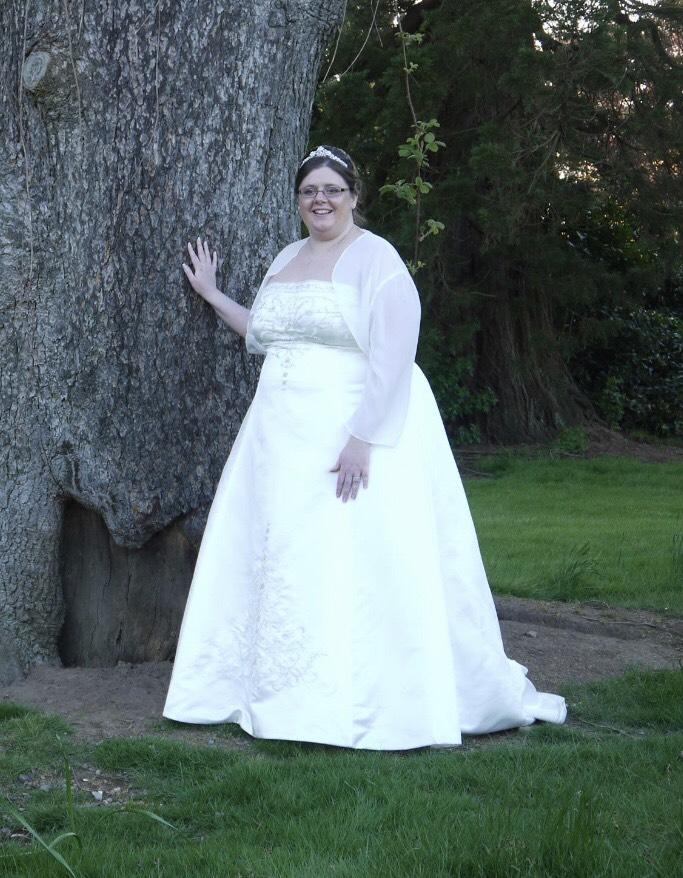 Karen Darby - Crosby in her wedding dress