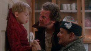 A scene in Home Alone starring Macaulay Culkin.